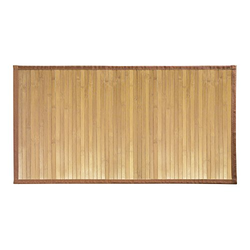 InterDesign Formbu Bamboo Floor Mat for Bathroom, Entryway, Kitchen, Mudroom – Pack of 2, Medium, Natural by InterDesign
