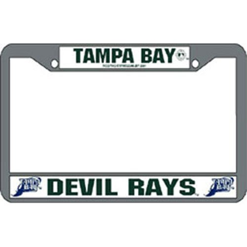Tampa Bay Devil Rays MLB Chrome License Plate Frame