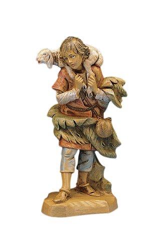 Fontanini Shepherd Gabriel With Sheep (5 Inch Fontanini Figure)
