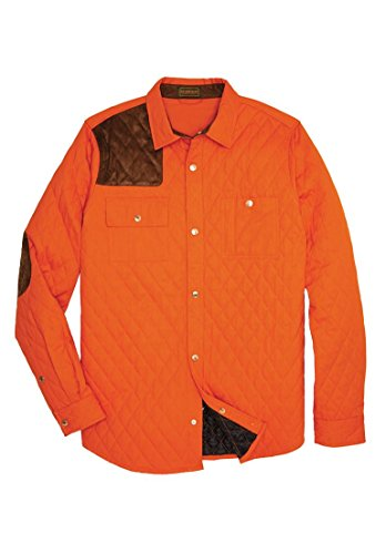 Boulder Creek Men's Big & Tall Shooter Shirt Jacket, Bright Orange