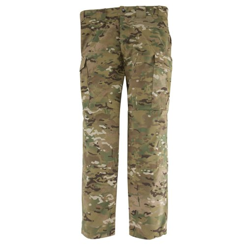 5.11 Tactical Men's Combat Camo Cargo Pant, Multicamo Ripstop Military Army Work Trousers, Teflon Finish for Stain Resistance, Style -