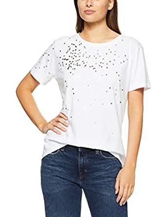 French Connection Women's Confetti TEE, Summer White/Multi, Extra Small