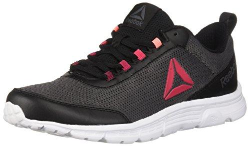 Reebok Women's Speedlux 3.0 Running Shoe, Black/ash Grey/White, 7.5 M US