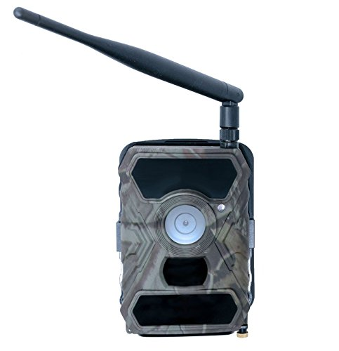 Commander 3G AT&T 1080p HD Wireless Trail Camera w/viewing screen & AT&T SIM Card | Cellular Game Camera / Security Camera | 12 MP 56 Cell Trail Camera by Snyper Hunting (Camo Commander 3G, Original) Cellular Card