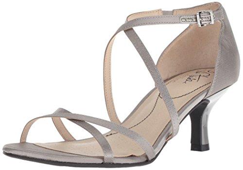 LifeStride Women's Flaunt Heeled Sandal, Pewter, 8 M US
