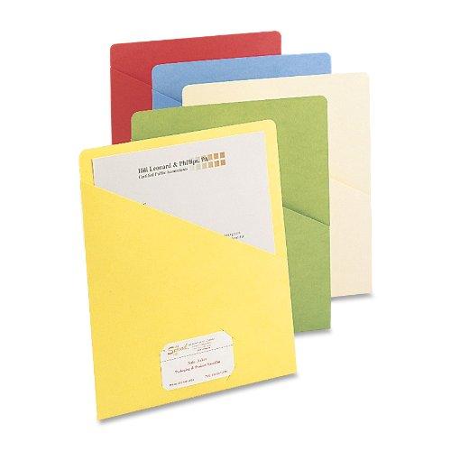 Smead Slash Jacket, Letter Size, Assorted Colors, 25 per Pack (75425)