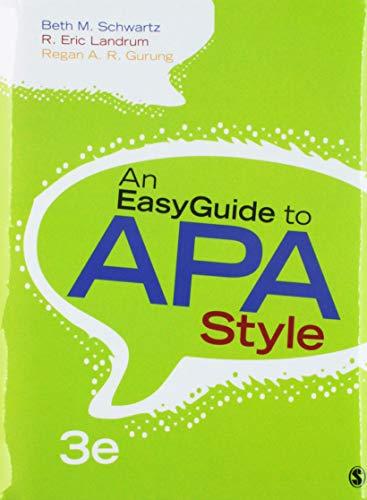 BUNDLE: Schwartz: An EasyGuide to APA Style 3e + Schwartz: An EasyGuide to Research Design & SPSS