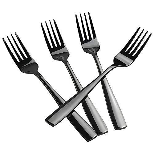 Teyyvn 16-pack Black Stainless Steel Dinner Forks, Cutlery Forks Set