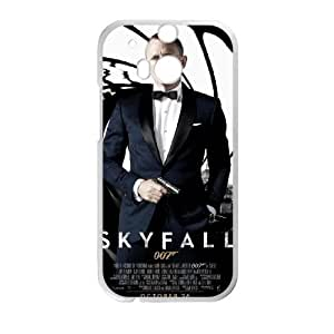 007 James Bond HTC One M8 Cell Phone Case White Transparent Protective Back Cover 1679