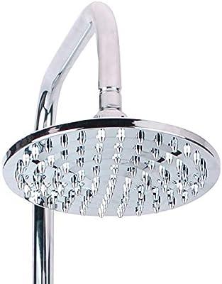 Columna de ducha Cromada alcachofa ducha pulsador con alcachofa de ...