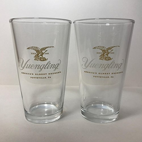 Yuengling Brewery - Gold Eagle - 16 Ounce Pint Glass - 2 Pack