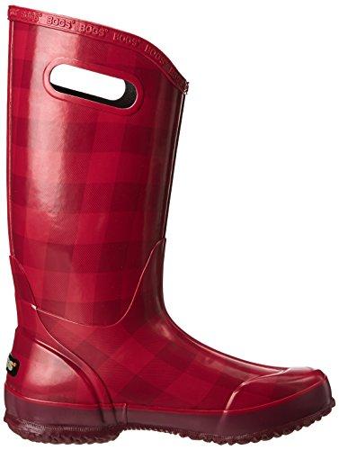 Myrar Kvinna Buffalo Pläd Rain Vattentät Boot Tranbär