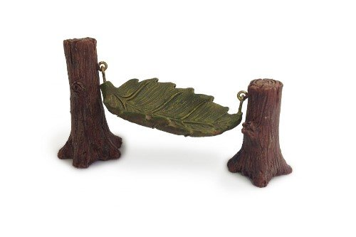 (Miniature Fairy Garden Leaf Hammock)