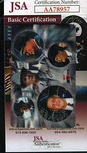 (TOM LANDRY Rare 1997 Phone Card Coa Hand Signed Authentic Autograph - JSA Certified - NFL Autographed Football)