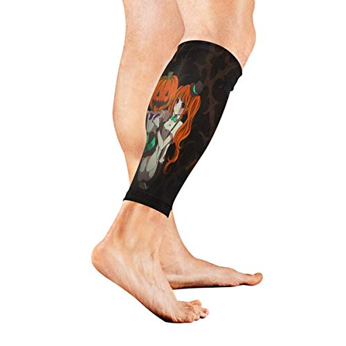 Leg Sleeve Customized Halloween Anime Wallpaper Compression Socks Support Non Slip Calf Sleeves for Yoga, Running, Shin Splint, Calf Pain Relief, Runners, Medical, Air Travel, Nursing, Cycling 1Pair