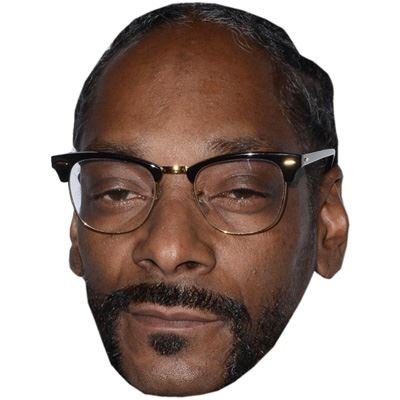 Snoop Dogg Celebrity Mask, Card Face and Fancy Dress Mask (Celebrity Face Masks)