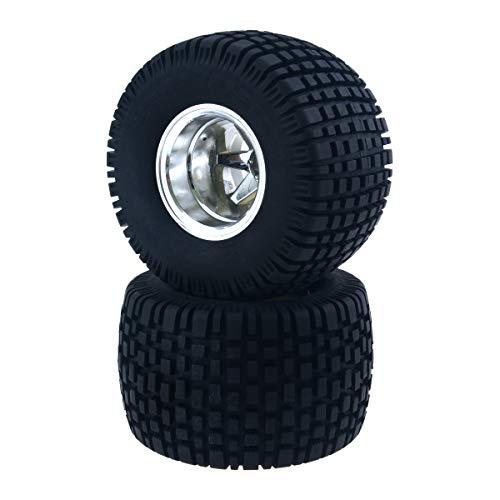 HobbyMarking 2Pcs RC 1/10 Monster Truck Split 6 Spoke 12mm Hex Wheel Rims & 110mm Rubber Tires Tyre for Tamiya Kyosho HSP Model Car Parts