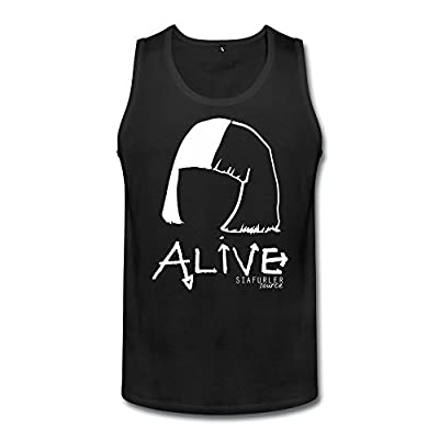 ZHENGMAO Men's Alive Sia Tank Top