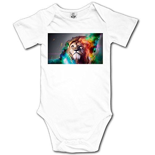 Unisex Baby's Climbing Clothes Set Lion Pattern Bodysuits Romper Short Sleeved Light Onesies for 0-24 Months -