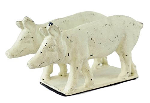 Barnyard Pig Napkin Holder with Distressed Finish