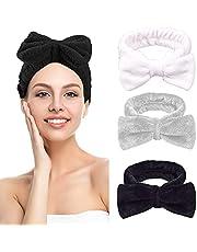 Haarband, hoofdband, 3 booghaarbanden, voor het wassen van het gezicht, make-up, yoga, sport