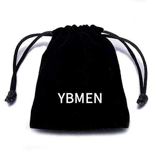 YBMEN Anillo de la joyer/ía de los Hombres de Titanio Anillo de Acero Inoxidable Ancho del Punk Rock Signet n/úmero de Anillo 13 Hombres del Anillo g/ótico