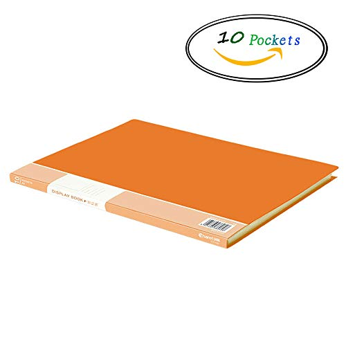 SYAODU Office Carpeta del Libro de Pantalla A4, Carpeta de la Cartera Libro de presentación del Bolsillo (Color : Orange 10...