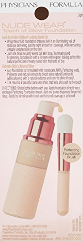 Physicians Formula Nude Wear Glowing Nude Foundation, Light, 1 Fluid Ounce