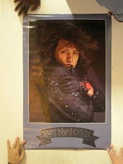 Bon Jovi Poster Jon Bon Jovi Leather Jacket Vintage