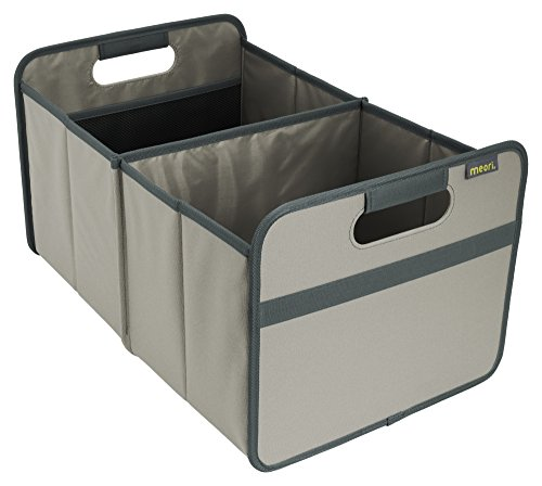 Milk Cooler 8 Crate - meori A100004 Classic Collection Large Foldable Storage Box, 30 Liter / 8 Gallon, in Stone Grey To Organize and Carry Up To 65lbs