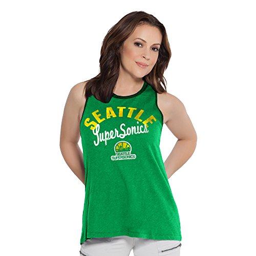 Touch by Alyssa Milano NBA Seattle Supersonics Women's Homerun T-Back Tank Top, Large, Green