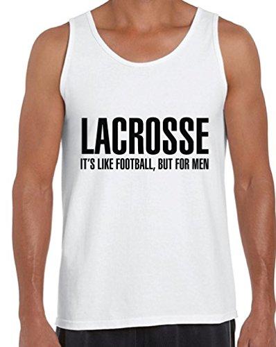Awkward Styles Men's Lacrosse It`s Like Football But for Men Tank Tops Sport White XL ()