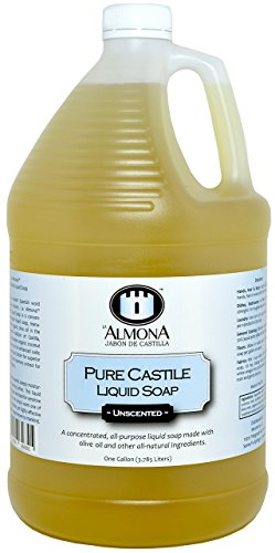 La Almona - Pure Castile Liquid Soap (Unscented), 1 Gallon by La Almona