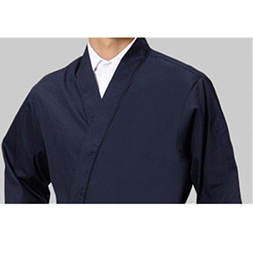 XINFU Sushi Chef Uniform 3/4 Long Sleeve Hotel Japanese Restaurant Kitchen Chef Coat by XINFU (Image #3)