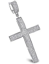 92923ddee00 Natural 0.6 Ctw Diamond Cross Pendants 14K or 10K Gold Cross