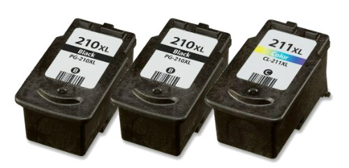 HouseOfToners Remanufactured Ink Cartridge Replacement for Canon PG-210XL & CL-211XL (2 Black & 1 Color, 3-Pack)