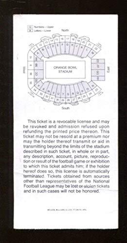 Super Bowl X 10 Ticket Steelers Cowboys 1/18/76 Miami Orange Bowl 44222
