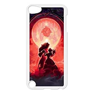 Grouden R Create and Design Phone Case,Beauty and the Beast Cell Phone Case for iPod touch 5 White + Tempered Glass Screen Protector (Free) GHL-2969959