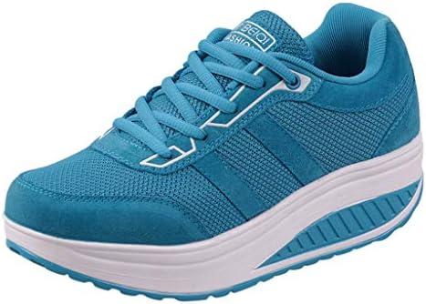 KERULA Sneakers Damen, Classic Fashion Mode lässig schnüren dicken Boden Sport Running Shake Elastische|Damenschuhe|Turnschuhe|Halbschuhe|Schuhe