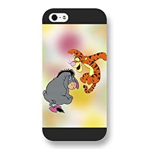 UniqueBox Customized Disney Series Case for iPhone 5 5S, Cute Cartoon Tigger iPhone 5 5S Case, Only Fit for Apple iPhone 5 5S (Black Frosted Shell)