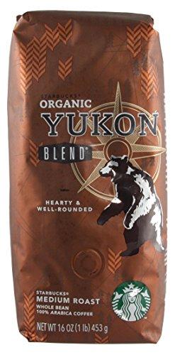 Starbucks - Roasted Whole Bean Coffee - 16 oz - Pack of 2 (Organic Yukon)
