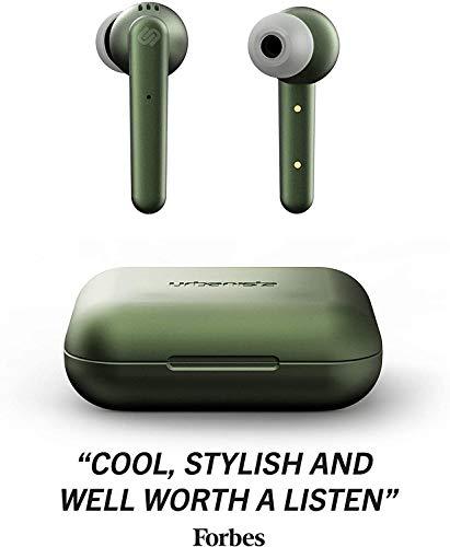 Urbanista Paris True Wireless Kopfhörer. 20H Spielzeit Kabellose Ladetasche, Bluetooth 5.0, Geräuschdämpfende Kopfhörer -Steuerung + eingebautem Mikrofon, kompatibel mit Android und iOS - Grün