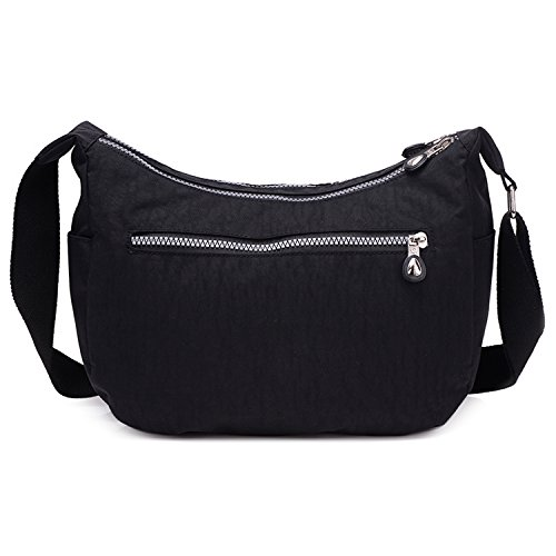 Ladies Bag Bag Black Shoulder Bag Cross Bag Women Small Side Fashion for Body Satchel Messenger Lightweight Outreo Waterproof fSnBOxO