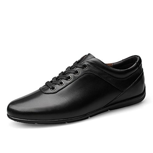Shoes Black Men's Daily Walking Sole Rubber Classic Minishion nYqU7pxw