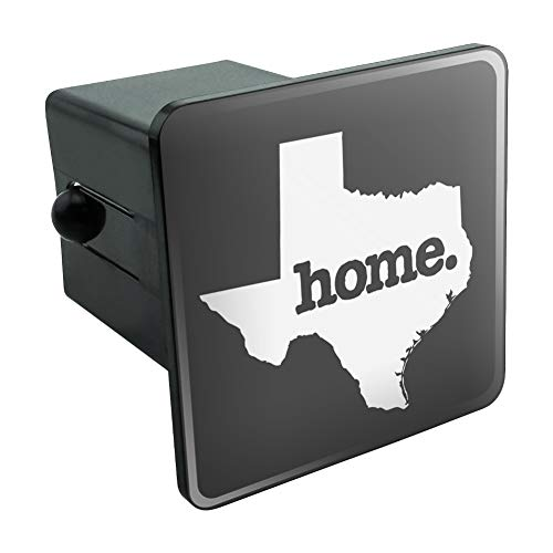 (Graphics and More Texas TX Home State Solid Dark Gray Grey Officially Licensed Tow Trailer Hitch Cover Plug Insert)
