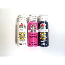 Plaid Apple Barrel acrylic paint Gloss Real Navy 2 oz. & Gloss White 2 oz. & Fuchsia 2 oz. 3-pack bundle