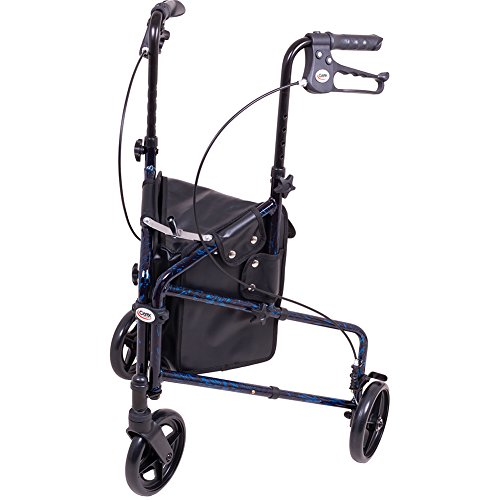 Carex 3 Wheel Walker For Seniors, Foldable, Rollator Walker With Three Wheels, Height Adjustable Handles by Carex Health Brands (Image #7)