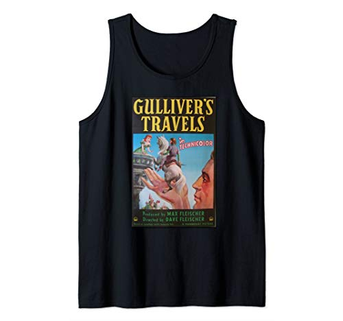 Classic Gulliver's Travels Retro Vintage Movie Poster Tank Top