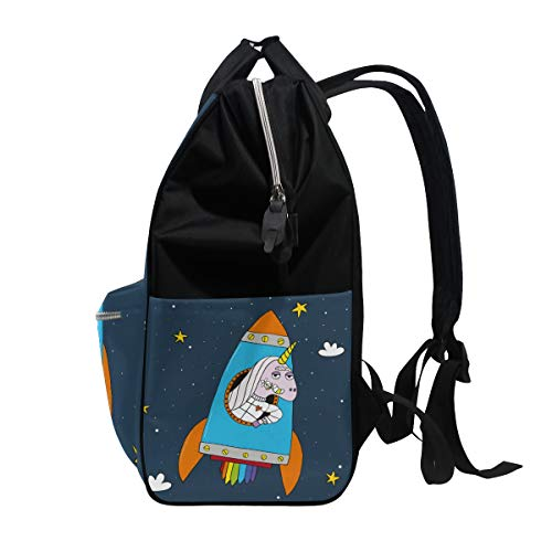 Colorful Multi10 Capacity Bag Muti Mummy Backpack Women Large Bag Canvas Travel Function Butterfly for SqRrwS1