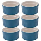 HIC Brands that Cook Ceramic 6-Ounce Souffle Dish, Bayberry, Set of 6